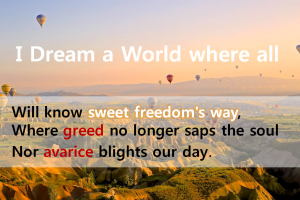 A STEP TOWARDS PEACE Langston Hughes(1902~1967) 'I Dream a World' : Of such I dream, My World!!!