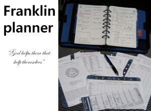 A STEP TOWARDS PEACE How to use a franklin planner : Wholehearted Weekly compass Value time management Time Bandit the most precious thing Stephen Covey solitude and planning Role Mission statement Hyrum W. Smith Governing value God helps them that help themselves FranklinCovey franklin planner Benjamin Franklin 7 Habits of Highly Effective People