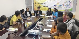 A STEP TOWARDS PEACE Interfaith dialogue with religious representatives values of human being UN ECOSOC The Messenger The founder of religion scriptures Sathit Kumarn role of religion religious studies peacebuilding Mr. Kumarn Islam international NGO Interfaith dialogue inner quality HWPL Husni Hamad Hinduism Christianity Buddhism