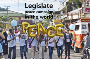 A STEP TOWARDS PEACE Legislate Peace Campaign in the world WARP Supreme Court justices Mindanao State University Legislate Peace Campaign international law conference HWPL Fiji Peace Steering Committee DPCW #LegislatePeace