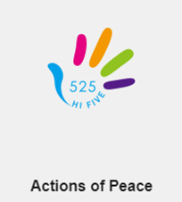 A STEP TOWARDS PEACE Simple act campaign : #525HiFive The meaning of 525 Simple act campaign Peacewalk IPYG International Peace Youth Group hashtagging Actions of Peace 525HiFive campaign 525 #525HiFive