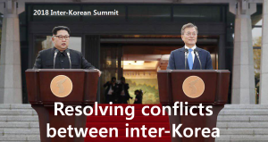 A STEP TOWARDS PEACE Resolving conflicts between North and South Korea WeAreOne TogetherForPeace The Korean War South Korea Resolving conflicts Peace House North Korean leader North Korea Moon Jae-in Kim Jong-Un HighFive CNN ANewStart 2018 inter-Korean summit
