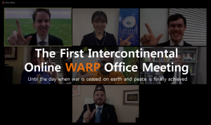 The First Intercontinental Online WARP Office Meeting - A STEP