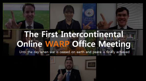 "A STEP TOWARDS PEACE 7th HWPL Intercontinental Online WARP Office ""About Food"" WARPsummit2019 WARP Offices Sikhism Manheelee Man Hee Lee Quotes Islam HWPL Intercontinental WARP Office Meeting HWPL Hinduism DPCW Christianity Buddhism"