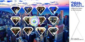 A STEP TOWARDS PEACE 28th World Peace Tour is for Advancing Peace WARP Summit to end WAR Publicity Ambassadors Peace messengers of peace Legislate Peace Campaign LA HWPL DPCW Declaration of World Peace America Advisory Council Advancing Peace in the Americas Advancing Peace 28th_Peacetour