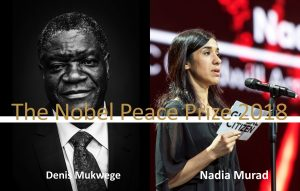 A STEP TOWARDS PEACE Nobel peace prize 2018, Denis Mukwege and Nadia Murad war crimes UN Spreading a culture of peace sex slaves Nadia Murad Mr.PravinH.Parekh Islamic State ISIS international law Hon. Emil Constantinescu H.E. Viktor Yushchhenko H.E. Ivo Josipović H.E. Gennady Burbulis Former President DPCW Article 10 DPCW Denis Mukwege Congo Confederation of Indian Bar CoerciveConversion CNN civil war Berit Reiss-Andersen Baltic-Black Sea Forum Alfred Nobel's will