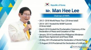 A STEP TOWARDS PEACE The Chairman Man Hee Lee Quotes #3 Peace Initiative Man Hee Lee Quotes Man Hee Lee IWPG IPYG HWPL chairman Lee