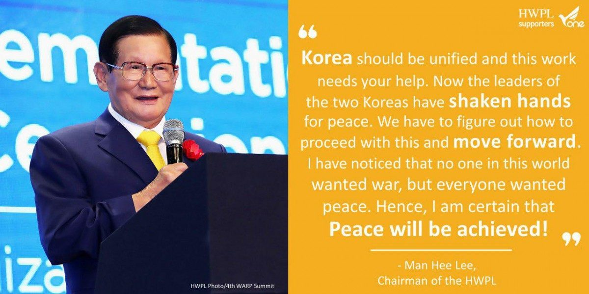 A STEP TOWARDS PEACE The Chairman Man Hee Lee Quotes UN Headquarters Man Hee Lee Quotes Man Hee Lee biography Man Hee Lee Inter Korea Summit chairman Lee 918 WARP 29th World Peace tour 2018 HWPL World Peace Summit