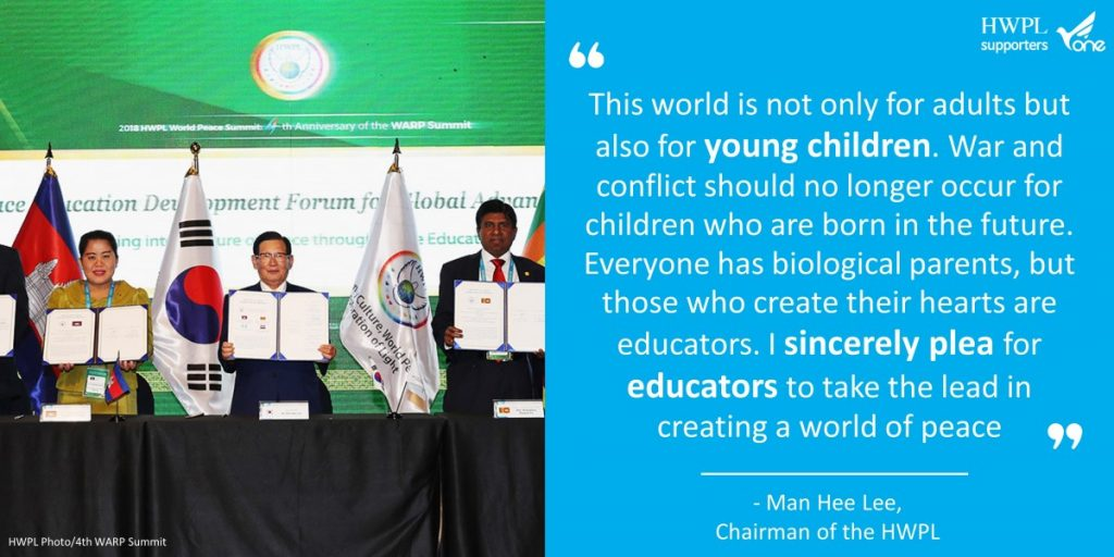 A STEP TOWARDS PEACE The Chairman Man Hee Lee Quotes #6 Man Hee Lee Quotes Man Hee Lee Peace Quotes Man Hee Lee biography Man Hee Lee IWPG IPYG HWPL chairman Lee