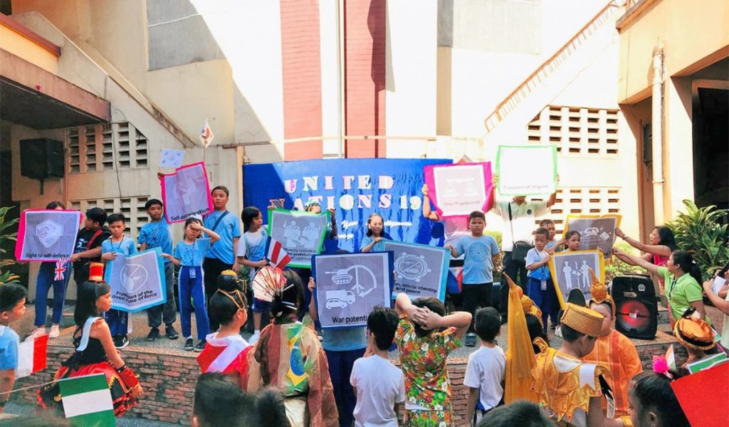 A STEP TOWARDS PEACE 80 students make a colorful march United Nations Day Philippines manheelee peace biography HWPL Peace education HWPL DPCW Bethel Knox