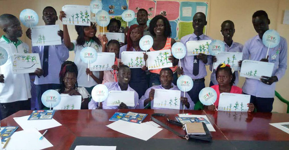 A STEP TOWARDS PEACE 1st IPYG Youth Peace Empowerment in South Sudan UN SDGs South Sudan refugee manheelee hwpl Junub Open Space Juba IPYG HWPL ethnic violence civil war 1st IPYG Youth Peace Empowerment