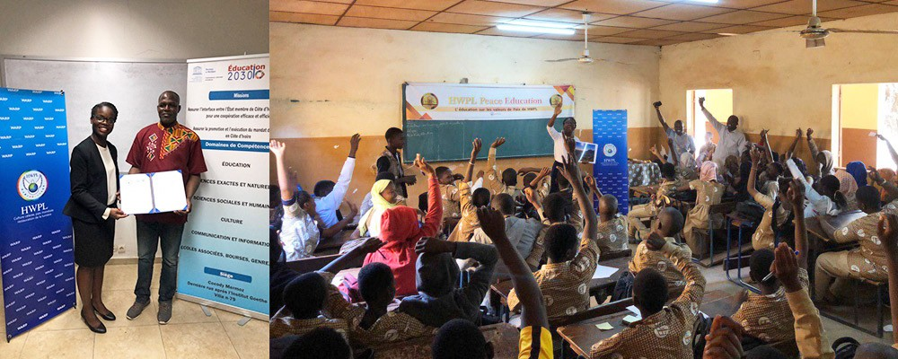 A STEP TOWARDS PEACE Ivory Coast and Mali HWPL Peace Camps UNESCO Peace education MOU manheelee peace biography man hee lee peace education Man Hee Lee biography Mali Ivory Coast HWPL Peace Camp